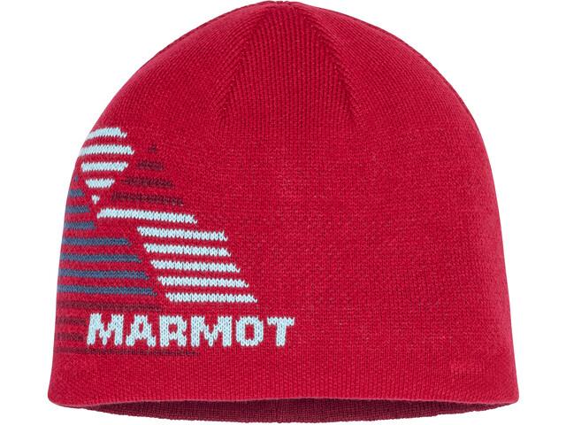 Marmot Novelty Wende-Beanie Jungen team red